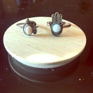Turquoise Hamsa Hand ring